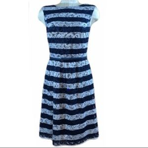 Alex Marie Lacy blue and white striped dress.